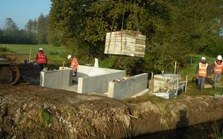 Le répartiteur en cours de construction sur le Stain