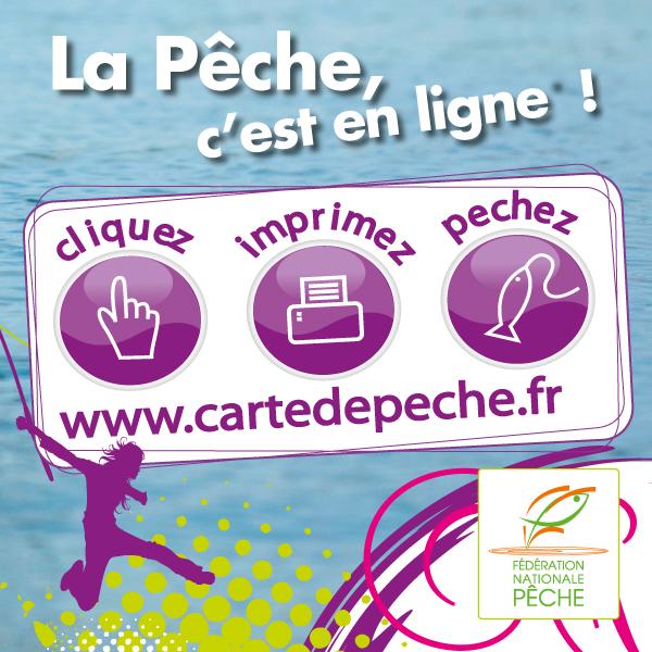 Obtenez votre carte de pêche en ligne